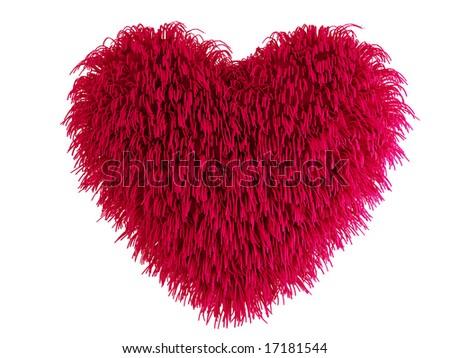 hairy heart - stock photo
