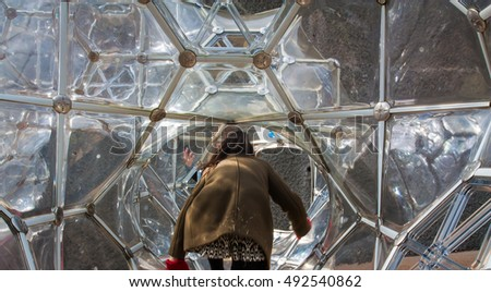 Hakone, Japan - December 6, 2014: The Hakone Open-Air Museum in Hakone.The Hakone Open-Air Museum is a place where you can see a lot of art.