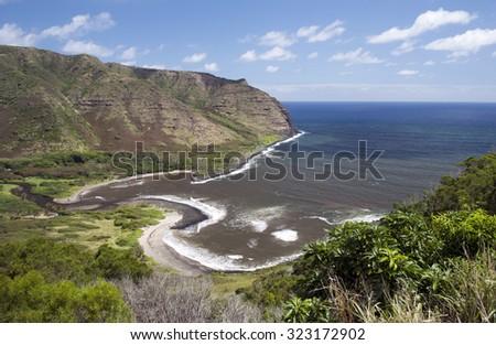 Halawa Valley, Molokai, Hawaii-1 - stock photo