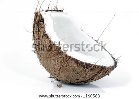 Half coconut - stock photo