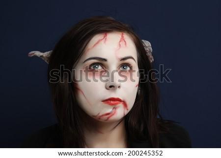 Half dead creature - stock photo