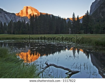Half Dome at Sunset - stock photo