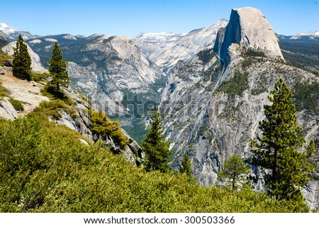 Half Dome at Yosemite National Park - stock photo
