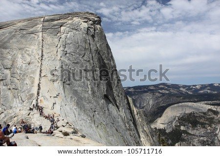 Half Dome, Yosemite National Park - stock photo