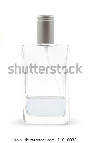 Half empty bottle of perfume