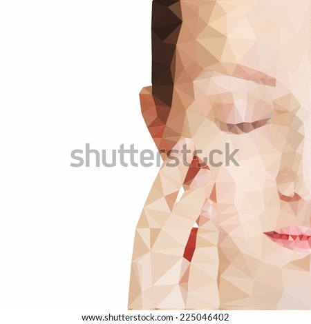 Half face of beautiful woman  - stock photo