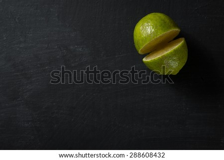 Half Lime Food Background - stock photo