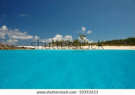 Half Moon Cay Beach - stock photo