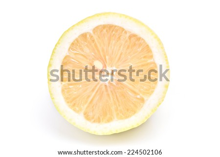 Half of Lemon  on a white background