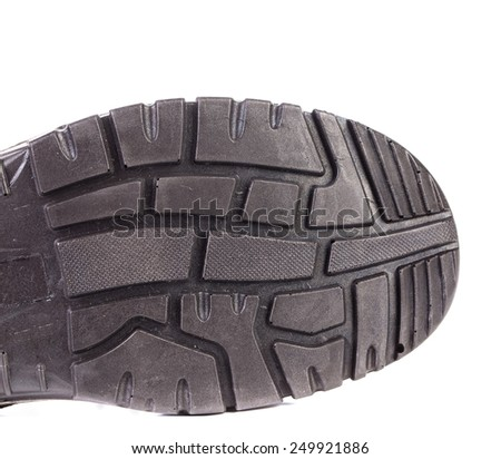 Half of shoe sole isolated on the white background - stock photo