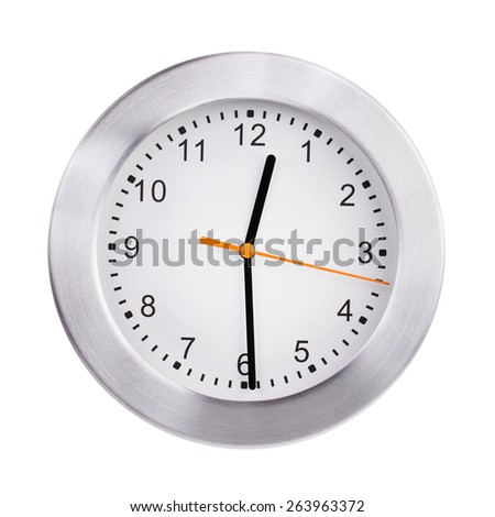 Half of the first on the dial - stock photo