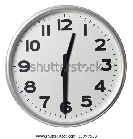 Half past twelve - stock photo