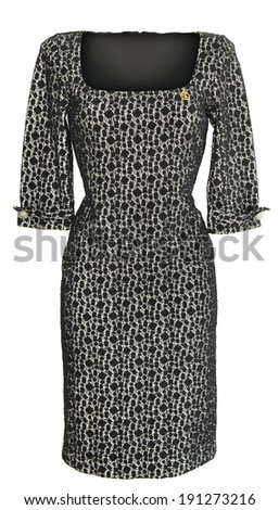 Half sleeve ladies dress on white background. - stock photo