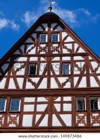 Half-timbered house - stock photo