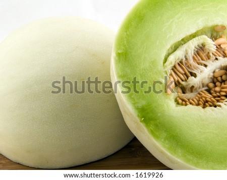 Halfed Honeydew - stock photo