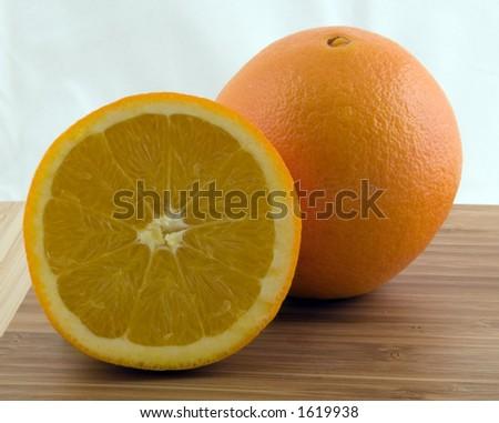 Halfed Orange - stock photo