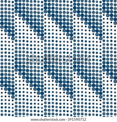 Halftone background seamless pattern - abstract dots seamless pattern. Background with circles. - stock photo