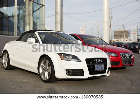HALIFAX, CANADA   MAY 27: Two New Audi Sport Models Sit On The Lot