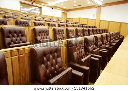 Hall government meetings. The main entrance - stock photo