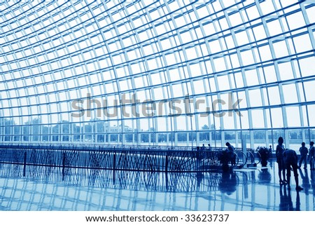 hall of chinese National Centre for the Performing Arts - stock photo