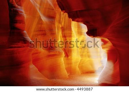 Hall of Kings, Antelope canyon, Page, Arizona - stock photo
