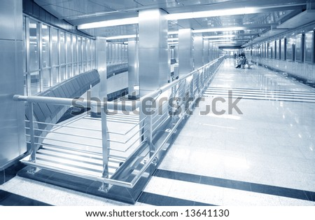 hall of subway station - stock photo