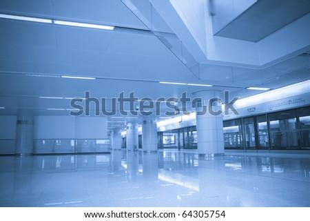 Hall Subway Station in chengdu china - stock photo