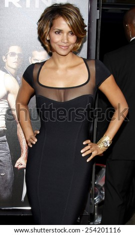 "Halle Berry at the Los Angeles Premiere of ""X-Men Origins: Wolverine"" held at the Grauman's Chinese Theatre in Hollywood, California, United States on April 28, 2009.  - stock photo"