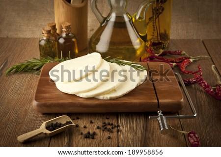 Halloumi Cheese concept photo - stock photo