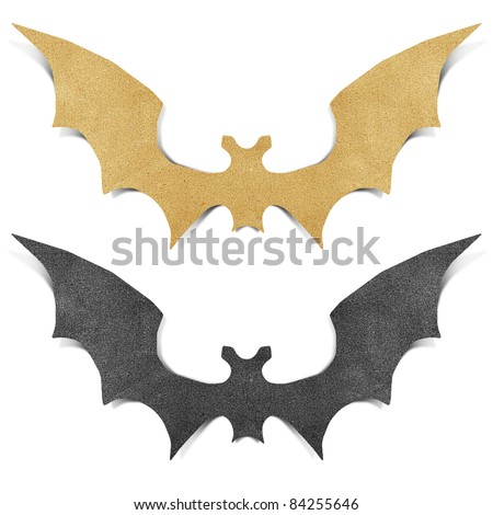 Halloween bat recycled papercraft background
