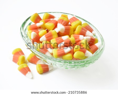 Halloween candy corn orange delicious sweet for the holiday. - stock photo