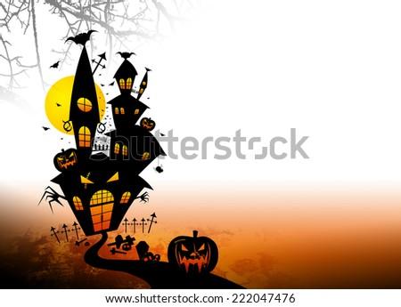 Halloween Castle - stock photo