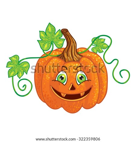 Halloween character pumpkin - stock photo