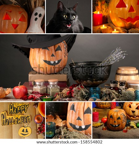 Halloween collage - stock photo