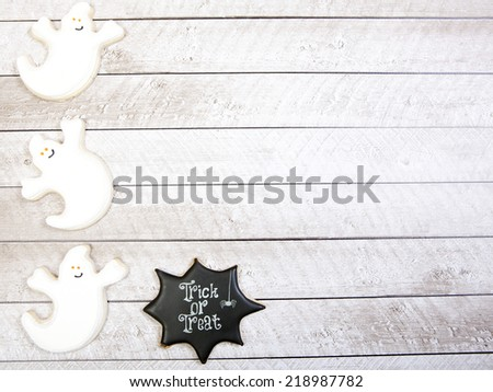 Halloween Cookie Background - stock photo