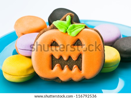 halloween cookies, chocolate covered orange