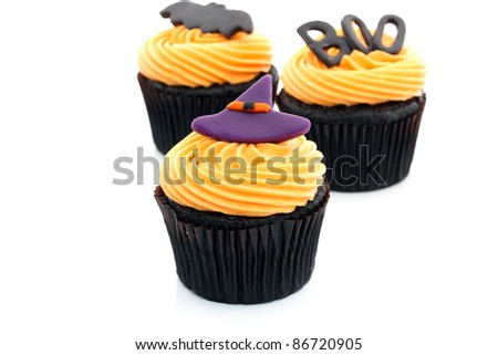 Halloween Cupcake - stock photo