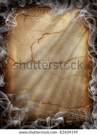 Halloween Dark Fire smoke vertical background - stock photo
