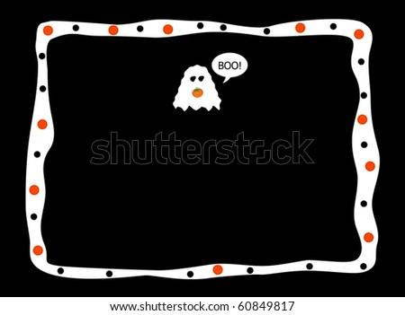 Halloween Ghost/Text Box - stock photo