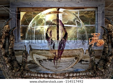 Halloween Haunted House - stock photo