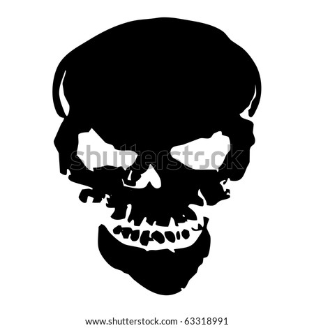Halloween human skull use for halloween holiday - stock photo