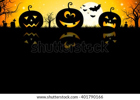 Halloween illustration - Jack-o-Lanterns