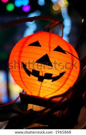 Halloween lantern - stock photo