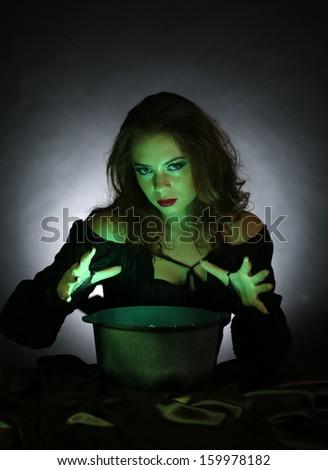 Halloween on dark background - stock photo