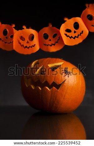 halloween party background - stock photo