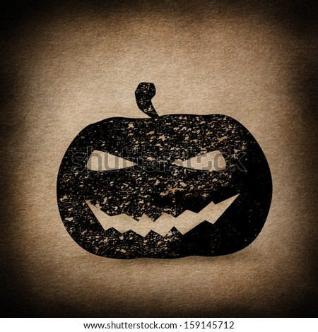 Halloween Pumpkin Background  - stock photo