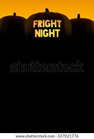 Halloween pumpkin background silhouette - stock photo