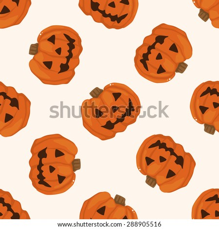 Halloween pumpkin , cartoon seamless pattern background - stock photo