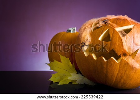 Halloween pumpkin head  - stock photo