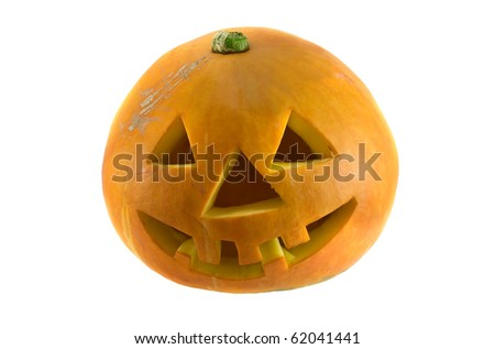 halloween pumpkin is isolated on white background